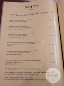 Restaurant Café Paul - laktosefreie und glutenfreie Gerichte