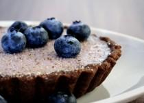 Schoko-Tartelette mit Blaubeer Panna cotta