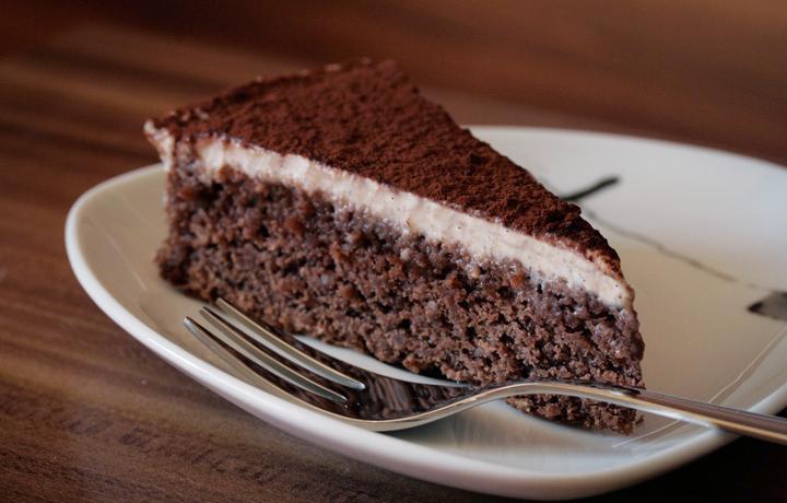 Schoko Mandel Kuchen Mit Cashew Vanille Creme Weizenfrei Vegan