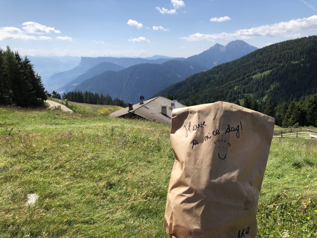 La Vimea Wandern/Lunchbag: veganes Hotel in Naturns, Südtirol
