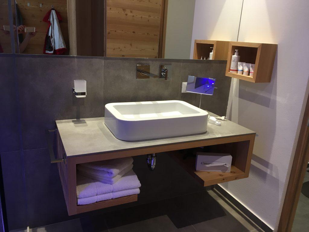 La Vimea Badezimmer: veganes Hotel in Naturns, Südtirol